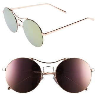 Women's A.j. Morgan Spacey 56Mm Sunglasses - Rose Gold/ Pink Mirror $24 thestylecure.com