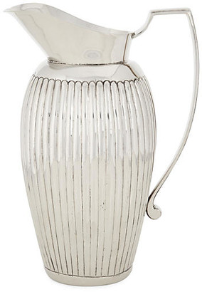 One Kings Lane Nickel Ribbed Pitcher - Silver