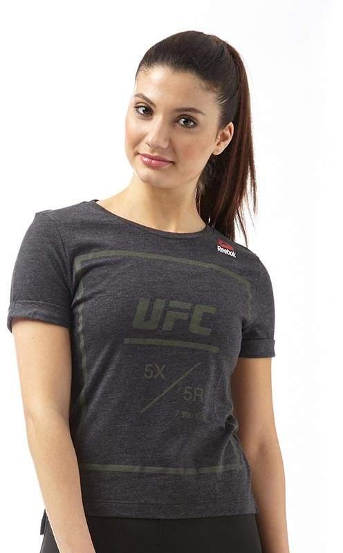 Damen UFC Fan Tri-Blend T-Shirt Schwarz