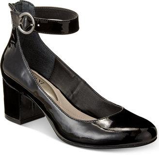 Alfani Women's Step 'N Flex Ashiaa Ankle-Strap Pumps, Created for Macy's Women's Shoes $79.50 thestylecure.com