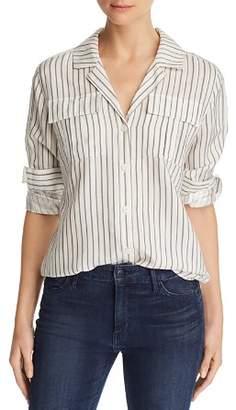 J Brand Peyton Striped Utility Shirt