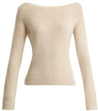 Brock Collection Kolbie Cashmere And Silk Blend Fine Knit Sweater - Womens - Ivory