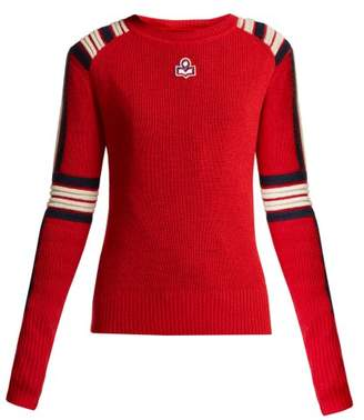 Etoile Isabel Marant Hayward Striped Wool Sweater - Womens - Red Multi