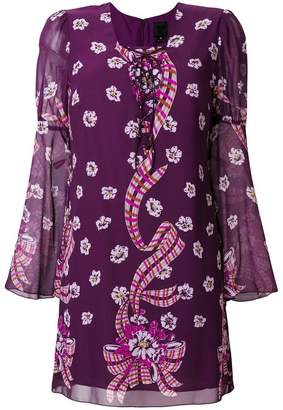 Anna Sui floral fitted dress
