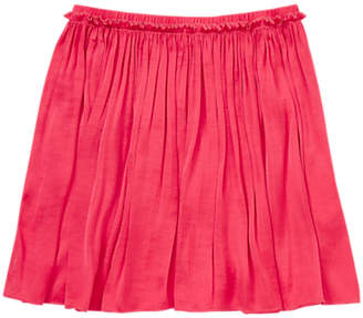 Jigsaw Girls' Drape Mini Skirt, Hot Pink