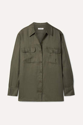 b5c18183bc1f7 Equipment Videlle Linen Shirt - Army green