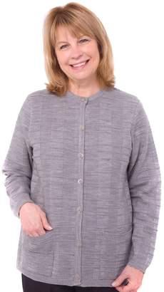 ts Disabled Elderly Needs Womens Two Pocket Cardigan Sweater For Elderly Senior Women - SMA