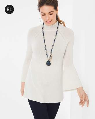 Black Label Flare-Sleeve Sweater