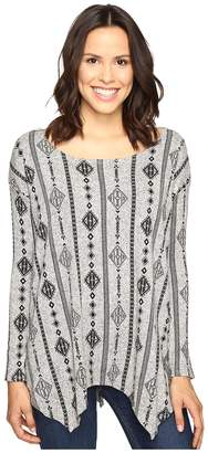 Rock and Roll Cowgirl Long Sleeve Sweater 48T9221 Women's Sweater
