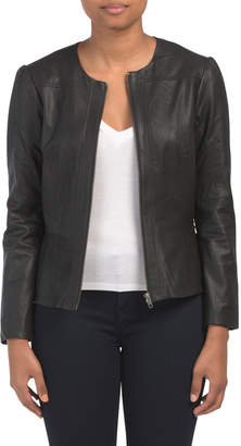 418f1708a Black Leather Jacket Juniors - ShopStyle
