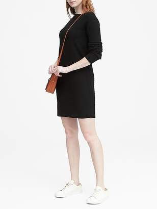 Banana Republic Wool-Cashmere Blend Ribbed Sweater Dress