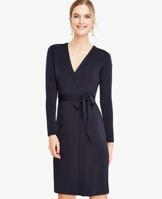 Ann Taylor Petite Always On Wrap Dress