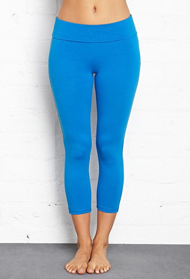 Forever 21 active foldover yoga capri leggings