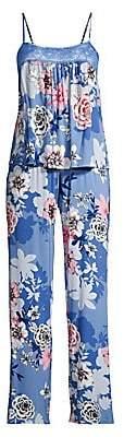 In Bloom Women's 2-Piece Sketch Floral Pajama Set