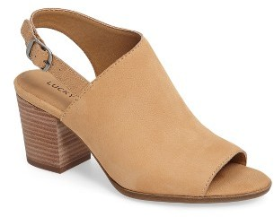 Women's Lucky Brand Obelia Block Heel Sandal $98.95 thestylecure.com