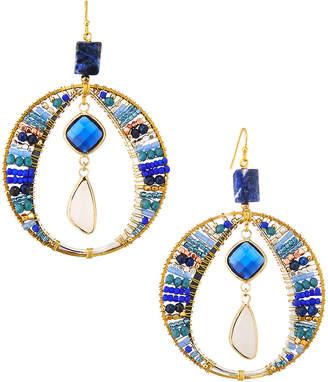 Nakamol Crystal Circle & Dangle Earrings
