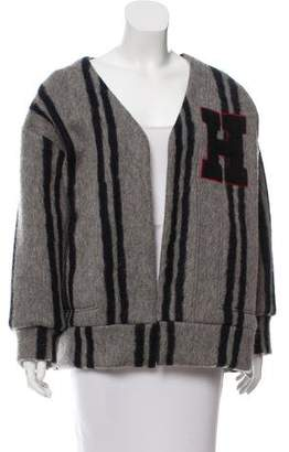 Hache Striped Open Front Jacket w/ Tags