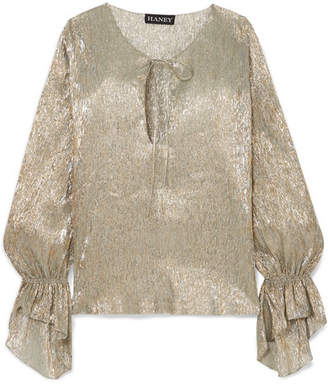 Haney - Ziggy Silk-blend Lurex Blouse - Silver