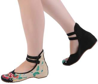 HYL Chinese Style Womens Shoe Casual Soft Sole Shoes Comfortable Embroidered Shoes