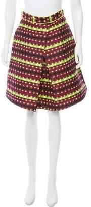 Zac Posen Woven A-Line Skirt