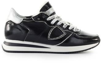 Philippe Model Trpx Black Patent Sneaker