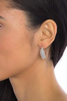 Panacea Grey Crystal Beaded Mini Hoop Earrings