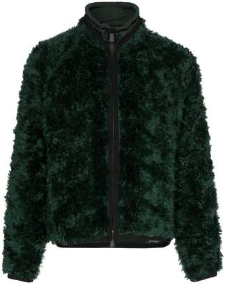 Moncler drawstring neck knitted mohair blend jacket