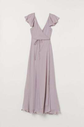 H&M Long Wrap Dress - Purple
