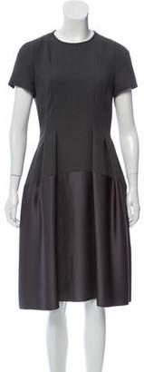 Paule Ka Scoop Neck Knee-Length Dress w/ Tags