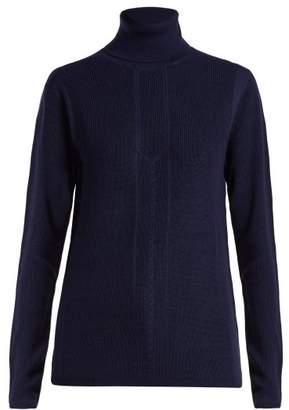 Falke Evelyn Roll Neck Wool Blend Sweater - Womens - Dark Navy