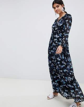 Suncoo floral printed maxi dress