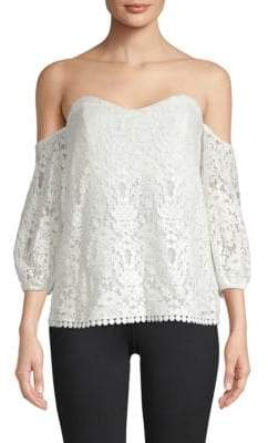 Bailey 44 Crochet Lace Off-the-Shoulder Top