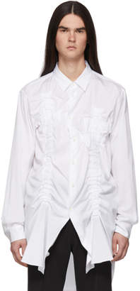 Comme des Garcons White Bunched-Up Shirt