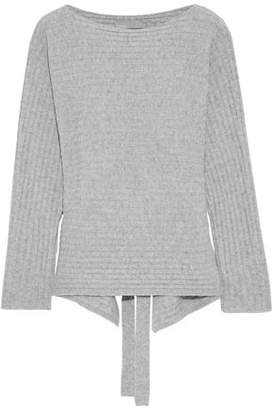 Vince Cutout Ribbed Wool And Cashmere-blend Sweater
