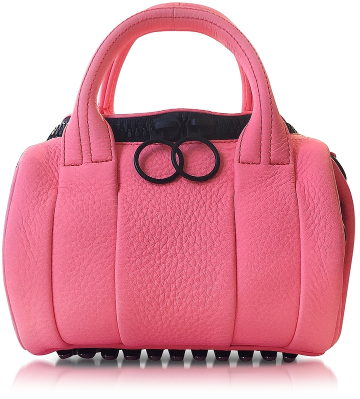Alexander Wang Alexander Wang Fluo Coral Mini Rockie Leather Satchel