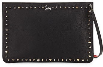 Christian Louboutin  Christian Louboutin Loubiclutch Empirespikes Mixed-Spike Clutch Bag