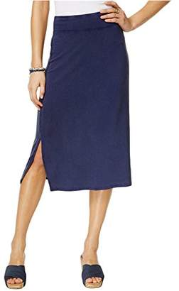 Bass G.H Co. Women's Snow-Wash Terry Midi Skirt