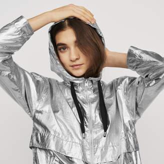 Maje Windproof coat with hood