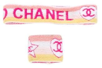 Chanel Logo Sweatband Set