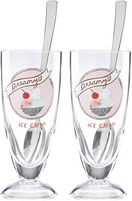 Kate Spade All in Good Taste Two Scoops 2-Pc. Ice Cream Soda Glass Set