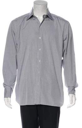 Tom Ford Gingham Button-Up Shirt