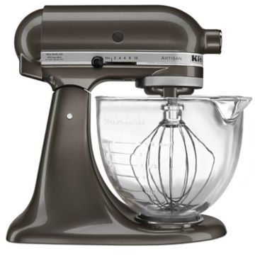 KitchenAid 5 qt. Artisan® Design Series Stand Mixer with Glass Bowl in Truffle Dust