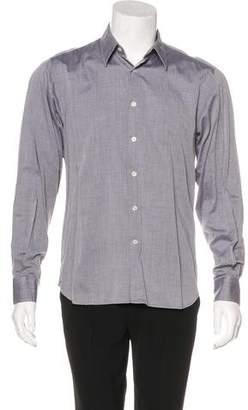 Calvin Klein Collection Herringbone Woven Shirt