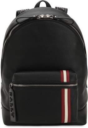 Bally Logo Stripe Leather Backpack