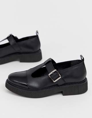 Asos Design DESIGN Method chunky leather flat shoes