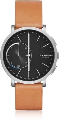 Skagen Hagen Hybrid Titanium and Tan Leather Men's Smartwatch