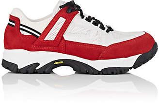 Maison Margiela Men's Lug-Sole Suede & Mesh Sneakers - Red