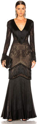 Murad Zuhair Fringed Knit Gown
