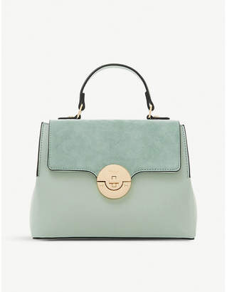 Dune Dinidoting faux-leather tote bag
