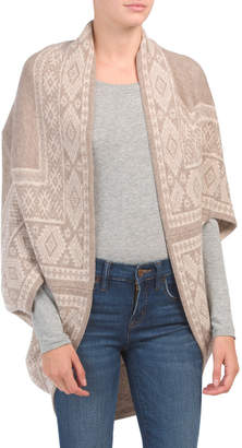Merino Wool And Cashmere Reversible Jacquard Cocoon Cardigan